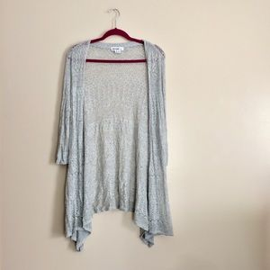 ❗️ Kensie Pretty Gray Crotchet Cardigan